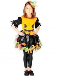 Pompoen kostuum met kleurrijk tule voor meisjes