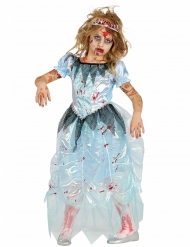 Blauwe prinses zombie kostuum voor meisjes