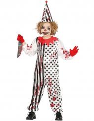 Bloederig zombie harlekijn kostuum voor kinderen