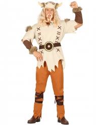 Beige viking kostuum voor mannen