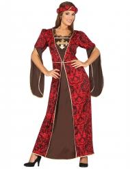 Rood middeleeuws prinses kostuum voor vrouwen