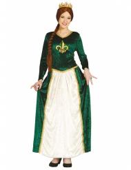 Groen middeleeuwse prinses kostuum voor vrouwen