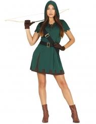 Groen boogschutter kostuum voor vrouwen