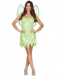 Glanzende groene fee kostuum voor vrouwen