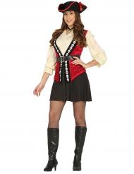 Piratenkostuum met doodskoppen voor vrouwen