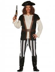 Gestreept piraat kostuum voor mannen