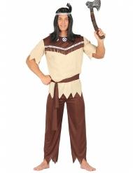Beige indianenkostuum voor mannen