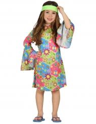 Hippie kostuum met kleurrijke symbolen voor meisjes