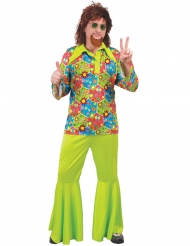 Groen hippiekostuum voor mannen