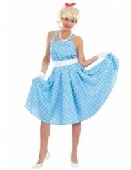 Stippeltjes jurk jaren 50 voor vrouwen