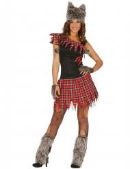 Schoolmeisje weerwolf kostuum voor vrouwen