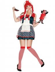 Lappenpop kostuum voor vrouwen