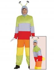 Gekleurd rupsen kostuum voor volwassenen