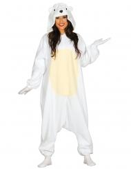 IJsbeer pak kostuum voor volwassenen
