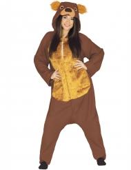 Bruine beer pak voor volwassenen