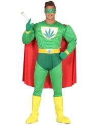 Grappig cannabis superheld kostuum voor volwassenen