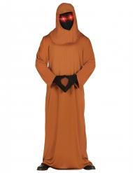 Duistere monnik kostuum met LED voor volwassenen