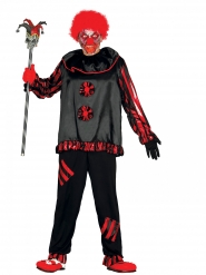 Zwart gestoord clown kostuum voor volwassenen