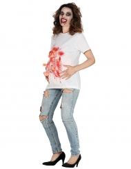 Bloederig zwangere vrouw t-shirt voor volwassenen