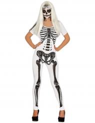 Wit skelet kostuum voor dames