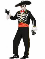 Dia de los Muertos Mariachi skelet kostuum voor mannen