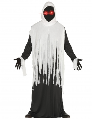 Spook kostuum met LED ogen voor volwassenen