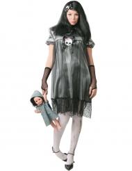 Kleine duistere pop kostuum voor vrouwen
