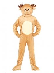 Rendier mascotte kostuum voor volwassenen