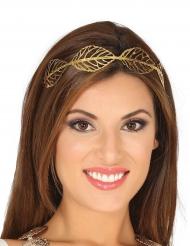 Mooie goudkleurige laurierkrans voor vrouwen