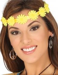 Gele bloemen hoofdband voor volwassenen