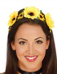 Gele bloemen tiara voor vrouwen