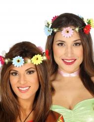 Kleurrijke lichtgevende bloemenkrans voor volwassenen