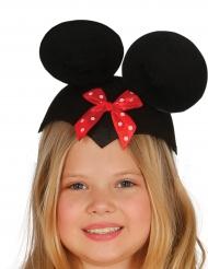 Muizen hoed met rode strik voor kinderen