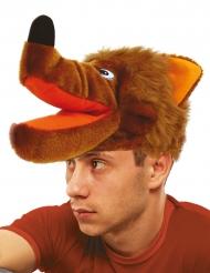 Bruine wolf hoed voor volwassenen