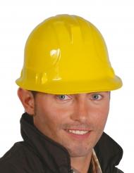 Gele bouwvakker helm voor volwassenen