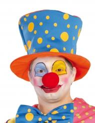 Hoge clownshoed met stippen voor volwassenen