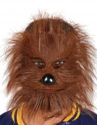 Weerwolf masker met haren voor volwassenen