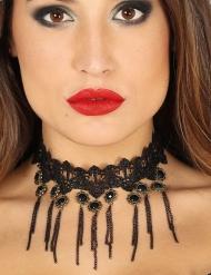 Sexy zwarte gothic halsband voor vrouwen