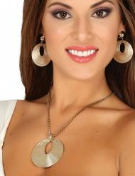 Griekse godin ketting en oorbellen voor vrouwen
