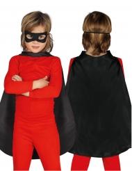 Zwarte superhelden cape voor kinderen