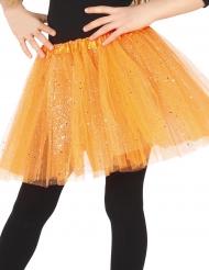 Oranje tutu met glitters voor meisjes