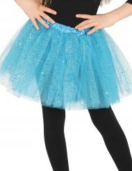 Blauwe tutu met glitters voor meisjes