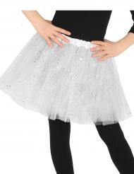 Witte tutu met glitters voor meisjes