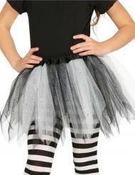 Tweekleurige zwarte en witte tutu met glitters voor meisjes