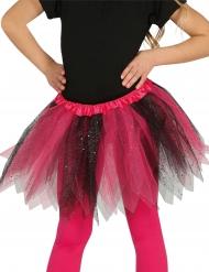 Zwarte en roze glitter tutu voor meisjes
