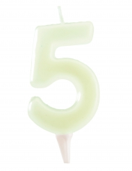 Fosforescerende cijfer 5 kaars