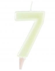 Fosforescerende cijfer 7 kaars