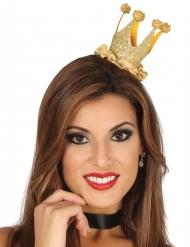 Mini koningin kroon met glitters voor vrouwen