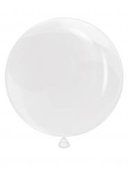 Doorzichte witte ronde ballon