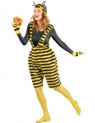 Pluche bijen overall voor volwassenen